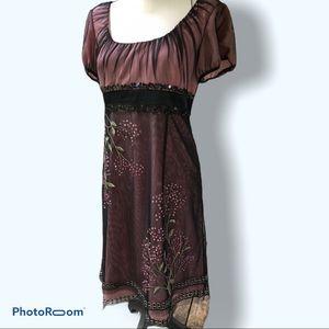 Adrianna Papell   Empire Waist Layered Dress